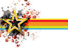 Abstract grunge star banner background. Design Royalty Free Stock Image