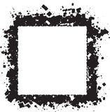 Abstract grunge style black square frame for your design. Abstract grunge style black square frame for your design Vector Illustration