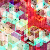 Abstract grunge style geometric background illustration Royalty Free Stock Photos
