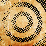 Abstract grunge target. On paper background Stock Images