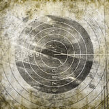 Abstract grunge target. Abstract target on grunge background Stock Images