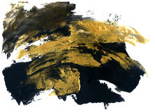 Abstract grunge texture. Golden and black stroke texture. Royalty Free Stock Photos