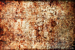 Abstract grunge texture: scratches, dirt, rust. And spots on a wall Royalty Free Stock Images
