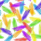 Abstract grunge texture seamless pattern. colorful rainbow on white background. vector Stock Photo