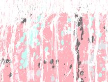 Abstract grunge texture with splashes of white, blue and gray paint on pink background, vector illustration Royalty Free Stock Photo