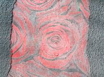 Abstract grunge textured background with roses Stock Photo