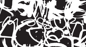 Abstract grunge textures. Graffiti style hand drawn fonts. Vector illustration stock illustration