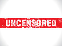 Abstract grunge uncensored stripe Stock Photos