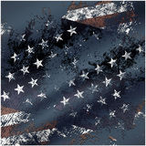 Abstract grunge USA flag background 2. Abstract USA flag with grunge elements Stock Photo