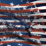 Abstract grunge USA flag background. Abstract USA flag with grunge elements Stock Photos