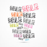 Abstract Grunge Vector Sale Titles Royalty Free Stock Images