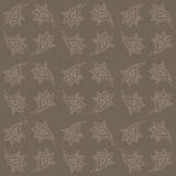 Abstract grunge vector seamless texture. In gray dusty old  worn colors, vintage wrapping, or textile, with eastern elements Stock Image
