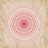 Abstract grunge vintage background of red dots. Evenly decrease size of circles. Abstract background of red dots. Evenly decrease size of circles. Comics style Royalty Free Stock Image
