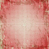 Abstract grunge vintage background of red dots. Evenly decrease size of circles. Abstract background of red dots. Evenly decrease size of circles. Comics style Stock Photo