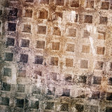 Abstract grunge wall background. With square element Stock Image