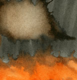 Abstract grunge watercolor background. Abstract black,orange, grunge watercolor background Stock Illustration
