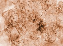 Abstract grunge watercolor background in brown tones. Abstract grunge watercolor background in brown tones texture painting vector illustration