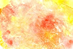 Abstract grunge watercolor background in yellow and orange colors. Texture painting vector illustration