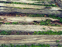 Abstract grunge wood texture on walking way in vintage style. Abstract grunge wood texture on walking way Royalty Free Stock Images