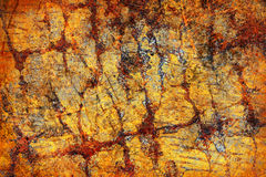 Abstract grunge yellow background Royalty Free Stock Photography
