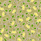 Abstract grunge yellow flowers seamless background Royalty Free Stock Photo