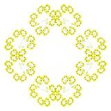 Abstract grunge yellow isolated floral pattern Stock Photography