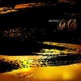 Abstract grunge zwart en gouden patroon, malplaatje voor brochures, royalty-vrije illustratie