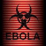 Abstract grungealarm van het Ebolavirus Stock Fotografie