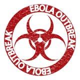 Abstract grungealarm van het Ebolavirus Stock Afbeeldingen