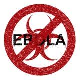 Abstract grungealarm van het Ebolavirus Royalty-vrije Stock Fotografie