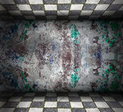 Abstract grungebinnenland Stock Afbeeldingen