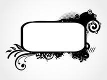 Abstract grungeframe voor tekst stock illustratie