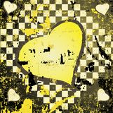 Abstract grungy background heart illustration Royalty Free Stock Photos