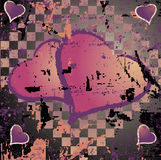 Abstract grungy background heart illustration Stock Image