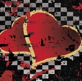 Abstract grungy background heart illustration Royalty Free Stock Photo