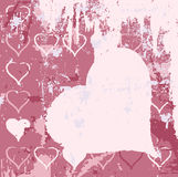 Abstract grungy background heart illustration Royalty Free Stock Images