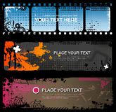 Abstract grungy banners. Set of three abstract grungy banners for any purpose Stock Image