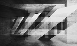 Abstract grungy concrete background, 3d art. Abstract grungy concrete wall background with chaotic structures pattern. Black and white 3d render illustration Stock Image