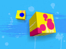 Abstract grungy cubes Royalty Free Stock Photography