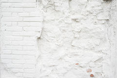 Abstract grungy empty background.Photo of white blank bricks wall texture. Blank painted surface.Horizontal. stock photos
