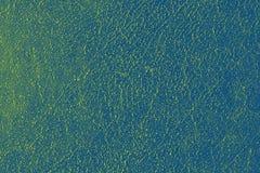 Abstract grungy geel blauw oppervlaktepatroon Royalty-vrije Stock Foto's