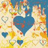 Abstract grungy heart illustration Royalty Free Stock Images