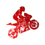 Abstract grungy motorcycle rider Royalty Free Stock Photography