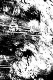 Abstract grungy rough scratches texture background  illustration in black and white Stock Images