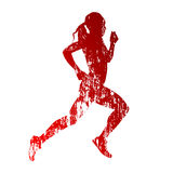 Abstract grungy running woman Royalty Free Stock Photography