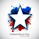 Abstract grungy star for 4th of july. Vector illustration in eps 10 format stock illustration