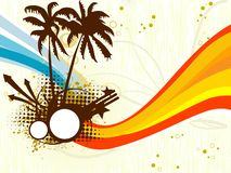Abstract grungy tropical background Royalty Free Stock Photography