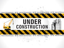 Abstract grungy under construction background. Vector illustration Royalty Free Stock Photography