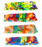 Abstract guasch painting Stock Image