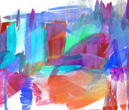 Abstract guasch painting Royalty Free Stock Images